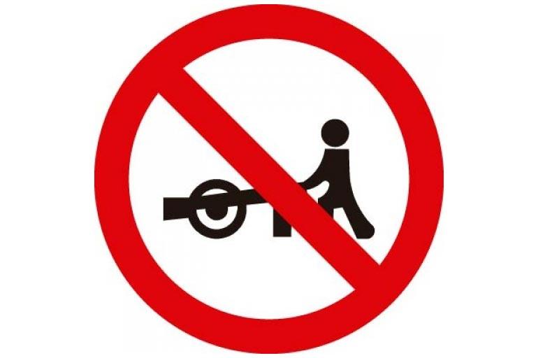 8.Trânsito proibido a carros de mão R-40